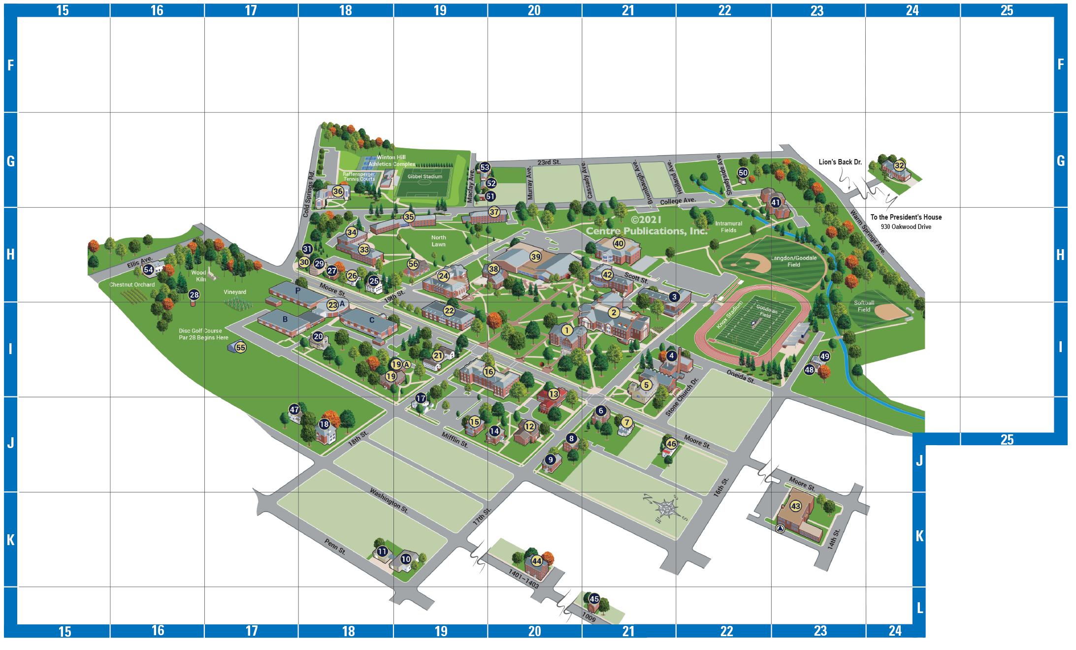 Juniata College Map