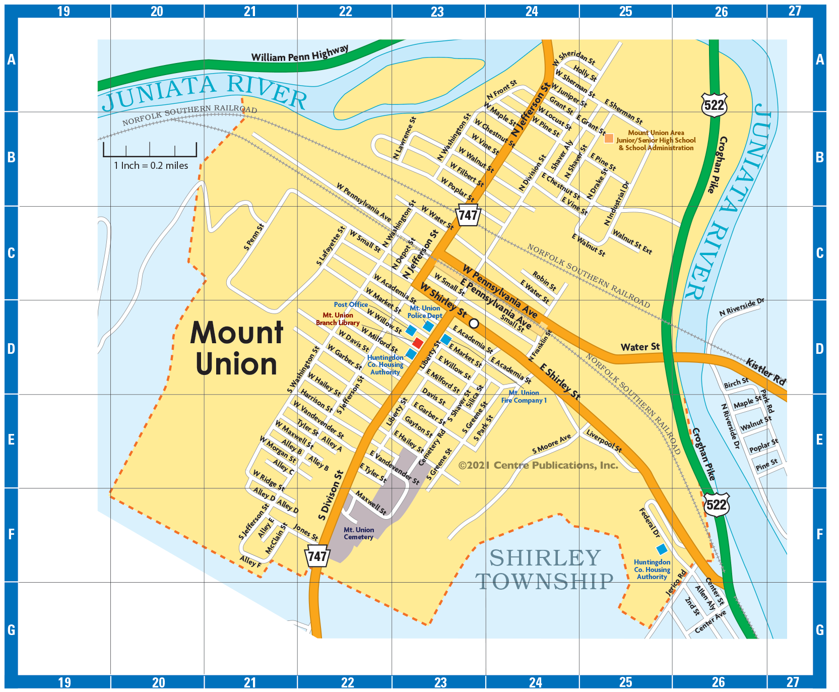 Mount Union Map