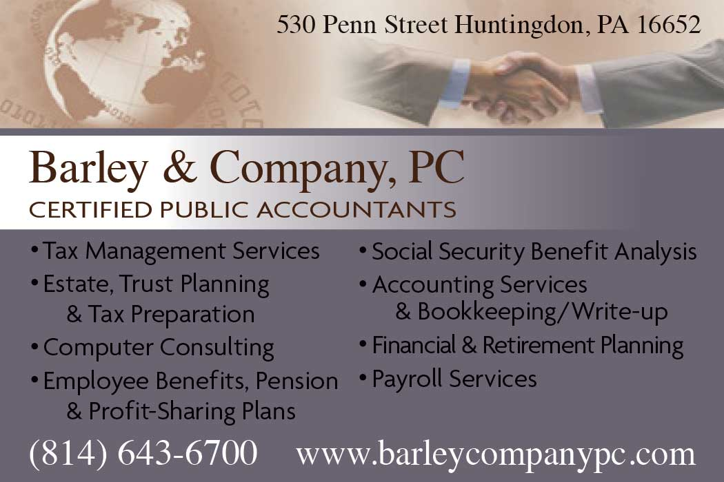 """<center>Barley & Company, PC 