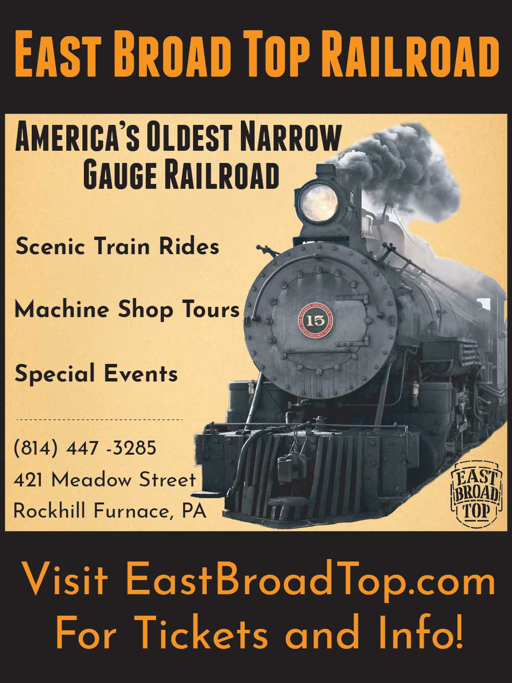 """<center>East Broad Top Railroad 