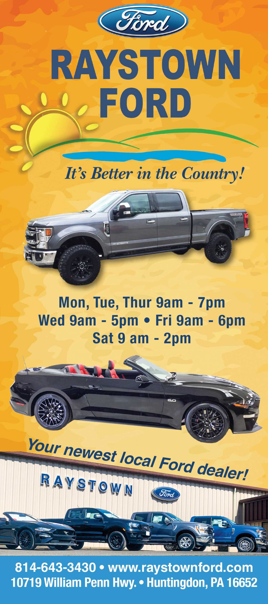 """<center>Raystown Ford 
