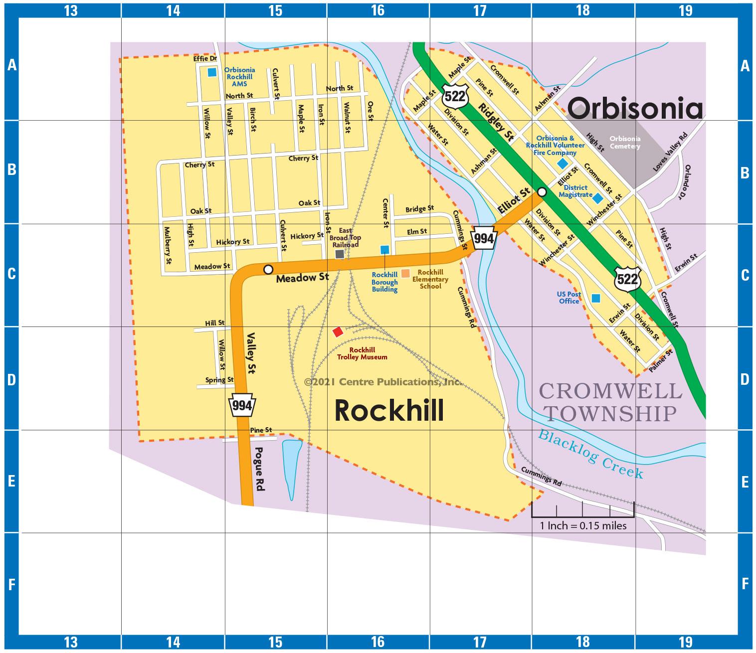 Rockhill & Orbisonia Map