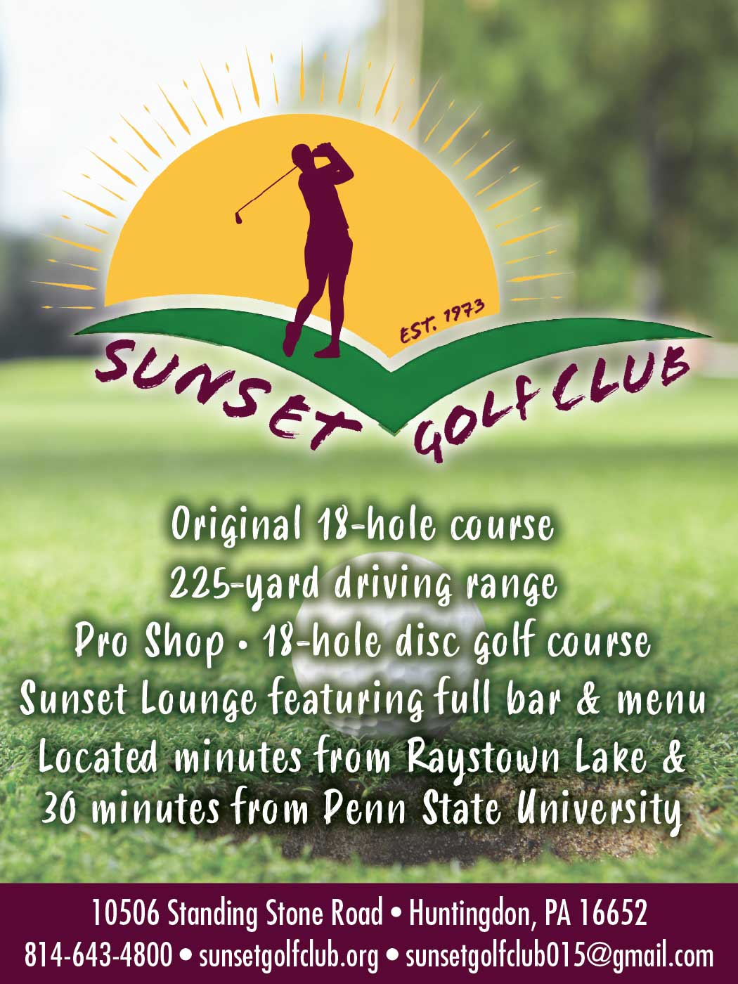 """<center>Sunset Golf Club 