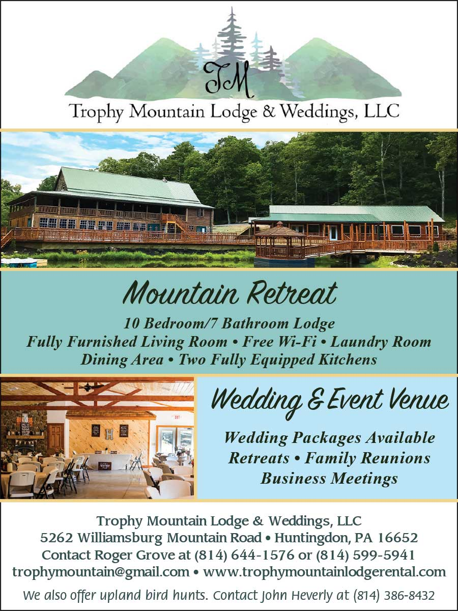 """<center>Trophy Mountain Lodge & Weddings, LLC 