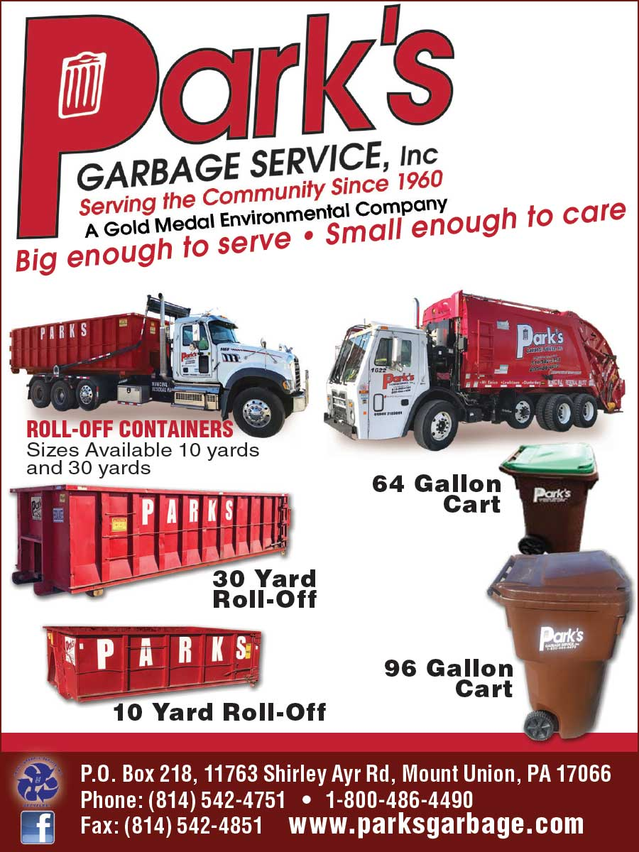 """<center>Park's Garbage Service, Inc. 