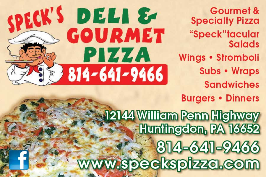 """<center>Speck's Deli & Gourmet Pizza 