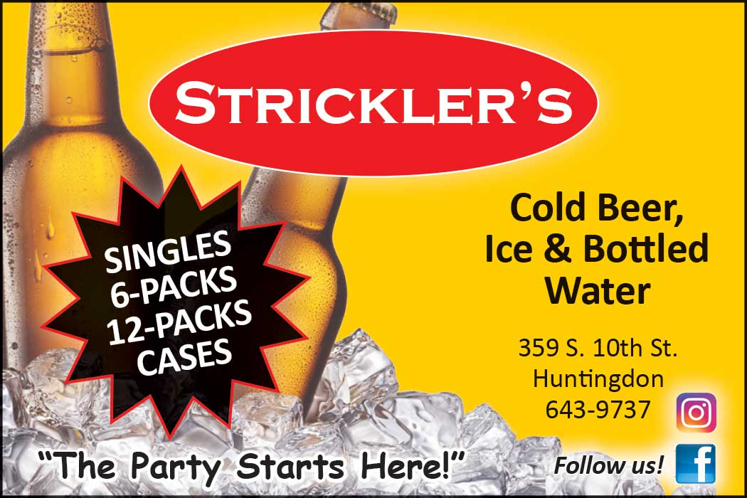 """<center>Strickler's Ice, Bottled Water & Cold Beer 