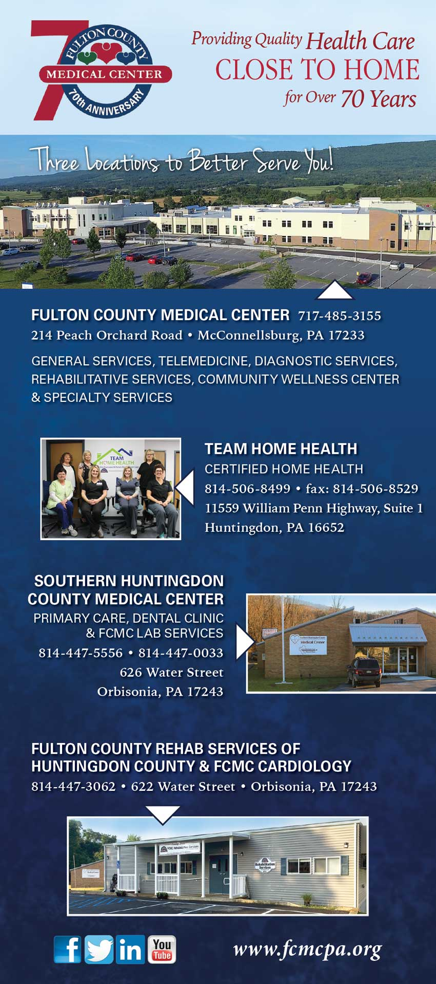 """<center>Fulton County Medical Center 