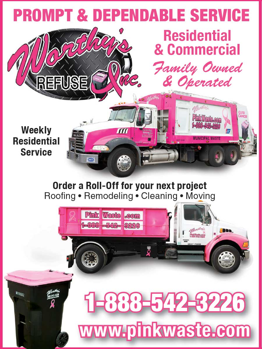 """<center>Worthy's Refuse, Inc. 